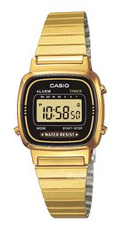 Casio Casio Collection Gul guldtonet stål 30.3x24.6 mm LA670WEGA-1EF