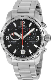 Certina DS Podium Big Chrono GMT Sort/Stål Ø42 mm C001.639.11.057.00