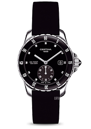 Certina DS First Lady Ceramic Small Second Sort/Gummi Ø34.8 mm C014.235.17.051.00