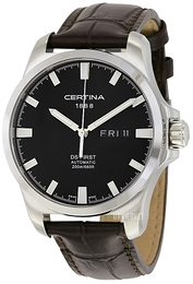 Certina DS First Gent Sort/Læder Ø40.3 mm C014.407.16.051.00