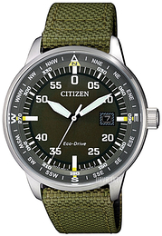 Citizen Eco Drive 180 Grøn/Tekstil Ø42 mm BM7390-22X