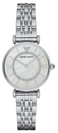 Emporio Armani Dress Hvid/Stål Ø32 mm AR1908
