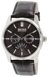 Hugo Boss Heritage Sort/Læder Ø43 mm 1513124
