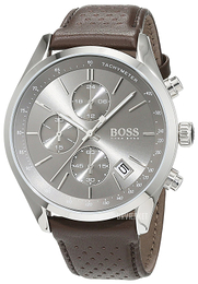 Hugo Boss Chronograph Grå/Læder Ø44 mm 1513476