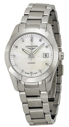 Longines Conquest Ladies Hvid/Stål Ø29.5 mm L2.285.4.87.6