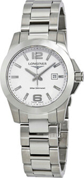Longines Conquest Ladies Hvid/Stål Ø29.5 mm L3.277.4.16.6