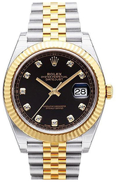 Rolex Datejust 41 Sort/18 karat guld Ø41 mm 126333-0006