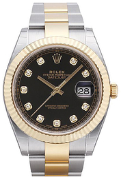 Rolex Datejust 41 Sort/18 karat guld Ø41 mm 126333-0005