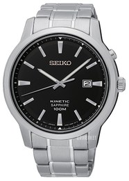 Seiko Kinetic Sort/Stål Ø43 mm SKA741P1