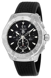 TAG Heuer Aquaracer Chronograph Sort/Gummi Ø43 mm CAY1110.FT6041