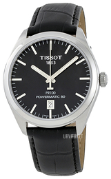 Tissot PR 100 Automatic Gent Sort/Læder Ø39 mm T101.407.16.051.00