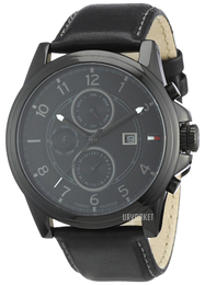 Tommy Hilfiger Classic Sort/Læder Ø44 mm 1710295