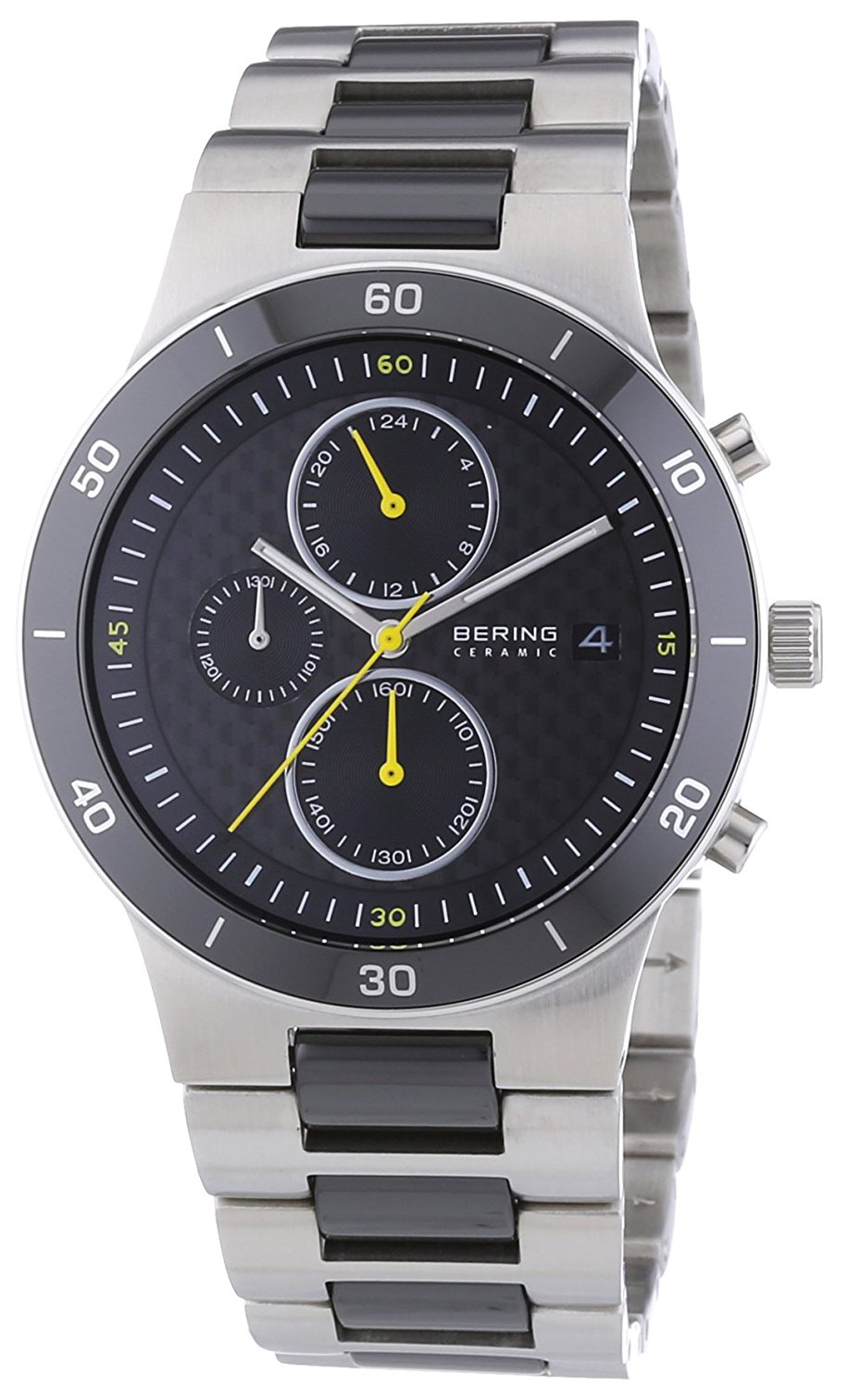 Bering Ceramic Herreur 33341-749 Sort/Stål Ø41 mm