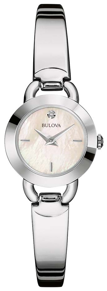 Bulova Diamond Dameur 96P154 Hvid/Stål Ø22 mm
