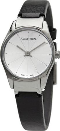 Calvin Klein 99999 Dameur K4D231C6 Sølvfarvet/Læder Ø24 mm