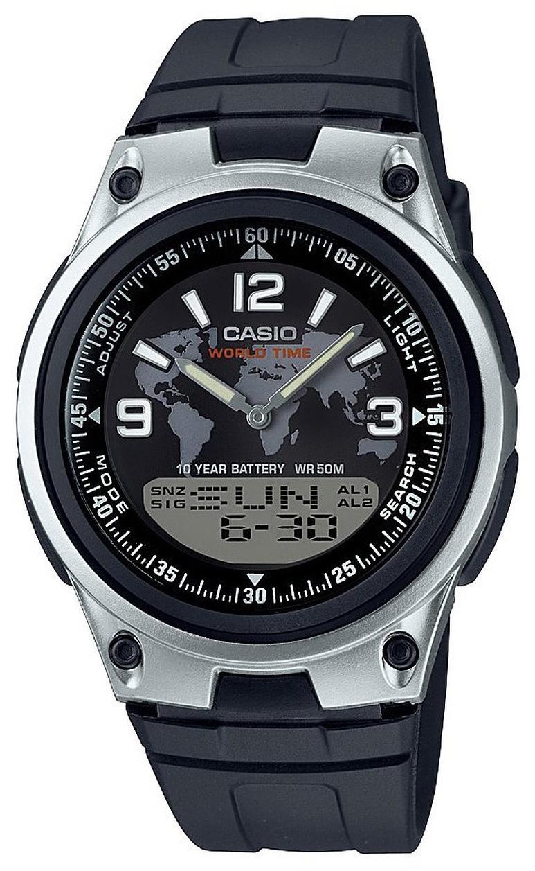 Casio Collection Herreur AW-80-1A2VES Sort/Resinplast Ø40 mm