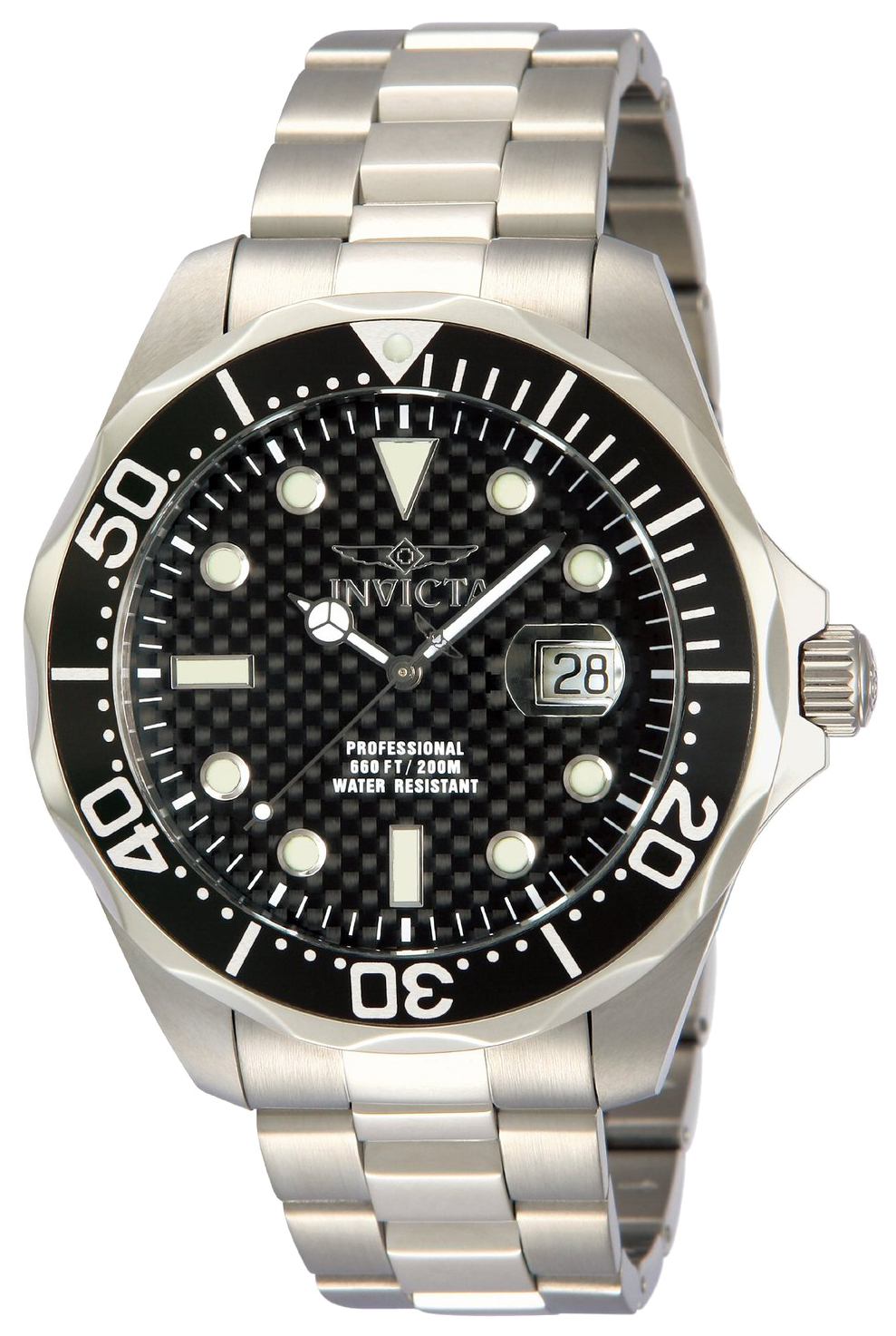Invicta Pro Diver Herreur 12562 Sort/Stål Ø47 mm