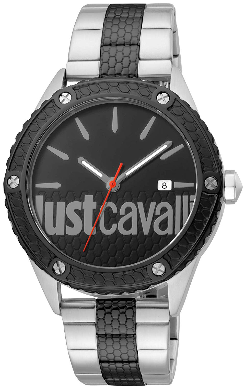Just Cavalli 99999 Herreur JC1G080M0085 Sort/Stål Ø44 mm