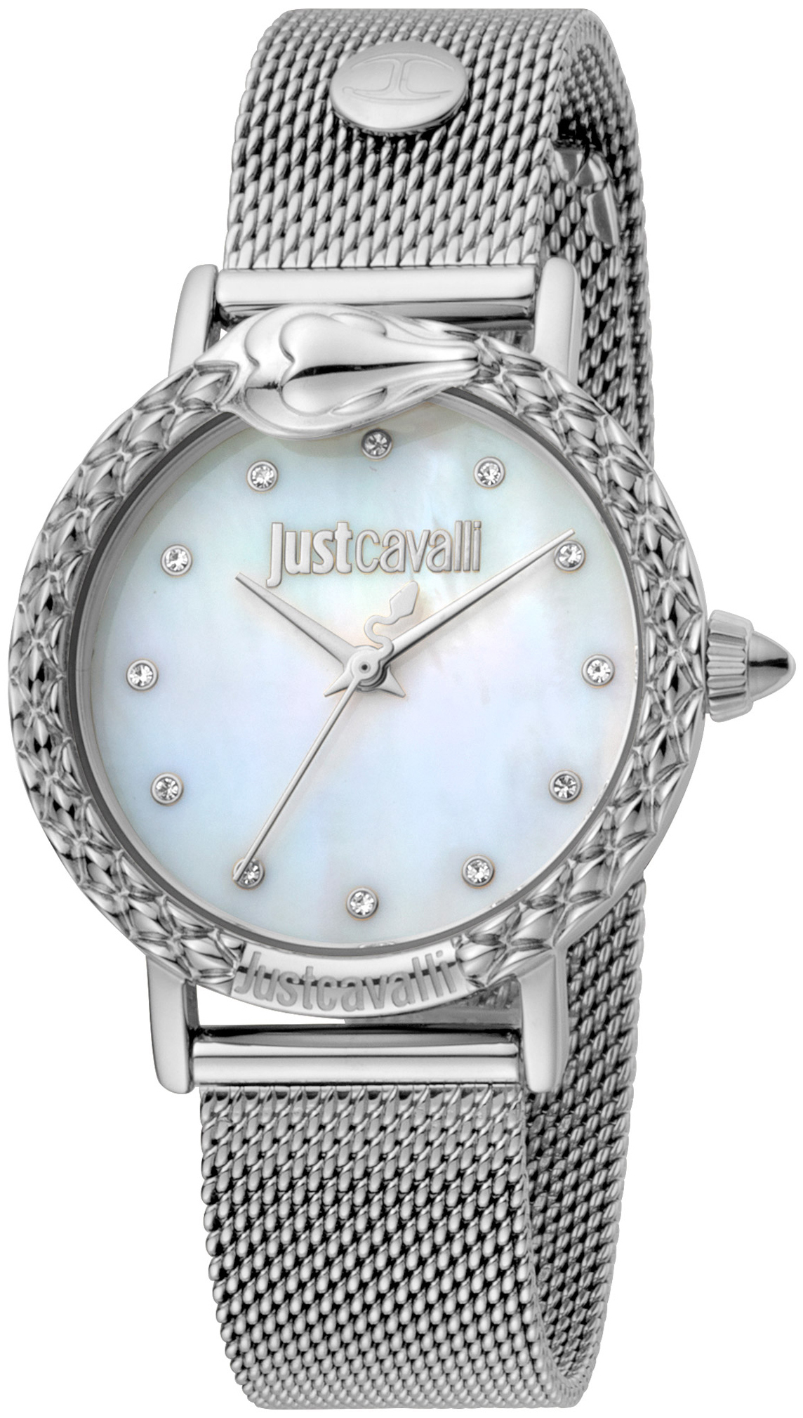 Just Cavalli 99999 Dameur JC1L124M0055 Hvid/Stål Ø34 mm