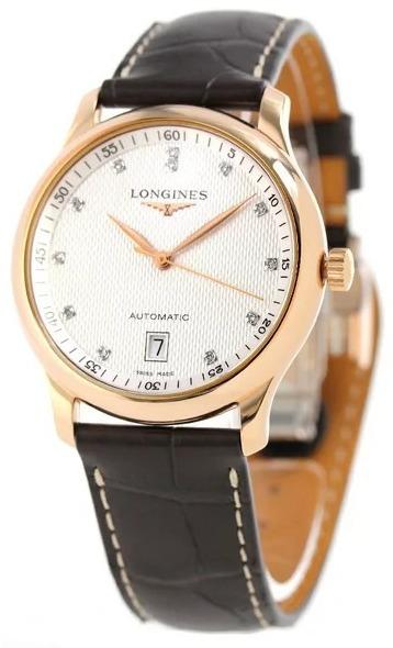 Longines Master Herreur L2.628.8.77.3 Sølvfarvet/Læder Ø38.5 mm