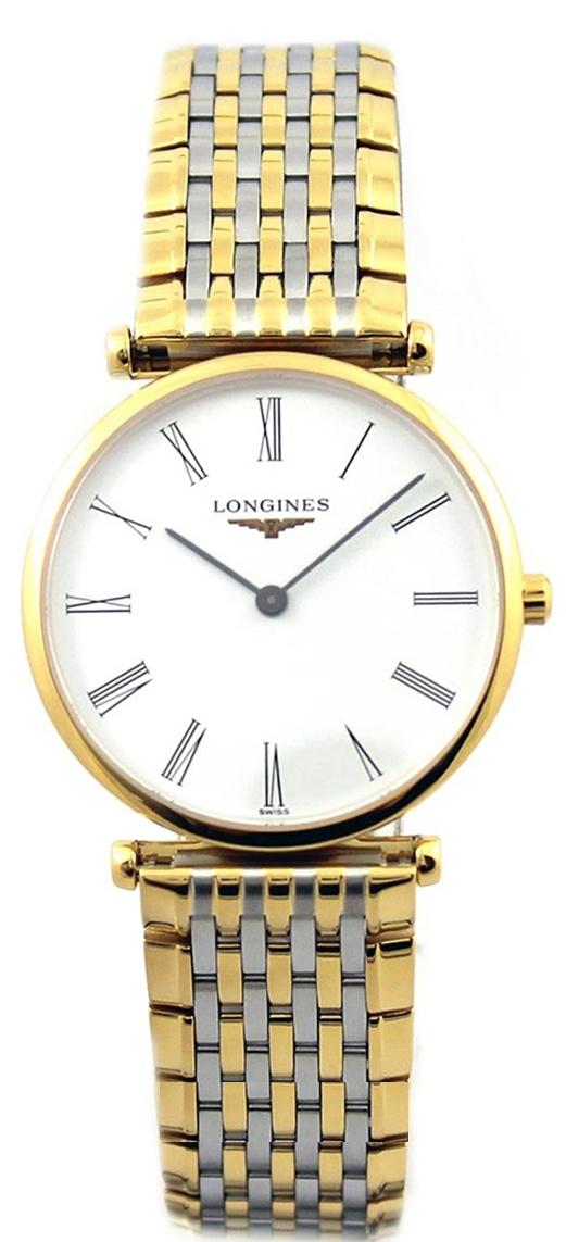 Longines Grande Classique Dameur L4.512.2.11.7 Hvid/Gul guldtonet