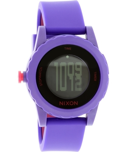 Nixon Plastic Analog Dameur A326230-00 Sort/Gummi Ø44 mm