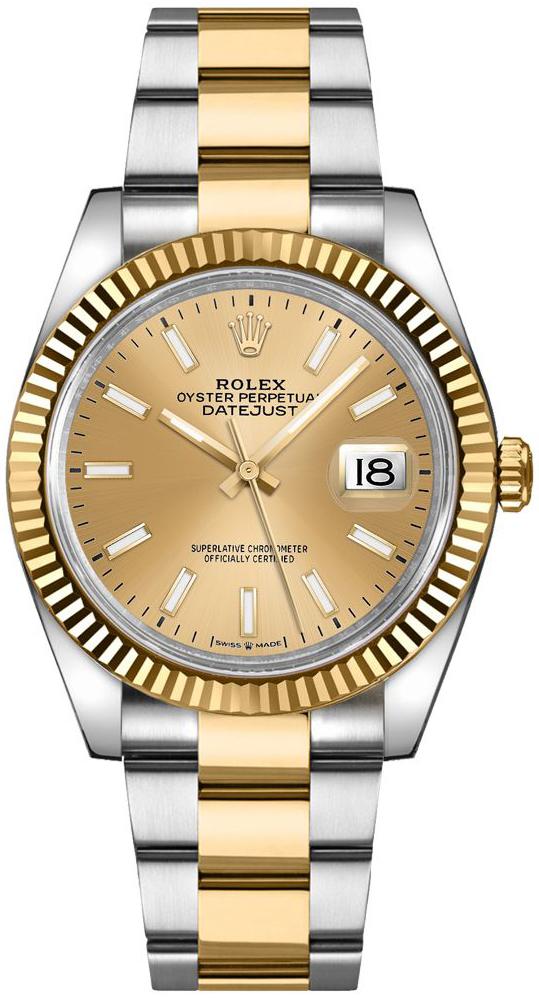 Rolex Datejust 36 Dameur 126233-0016 Guldfarvet/18 karat guld Ø36 mm