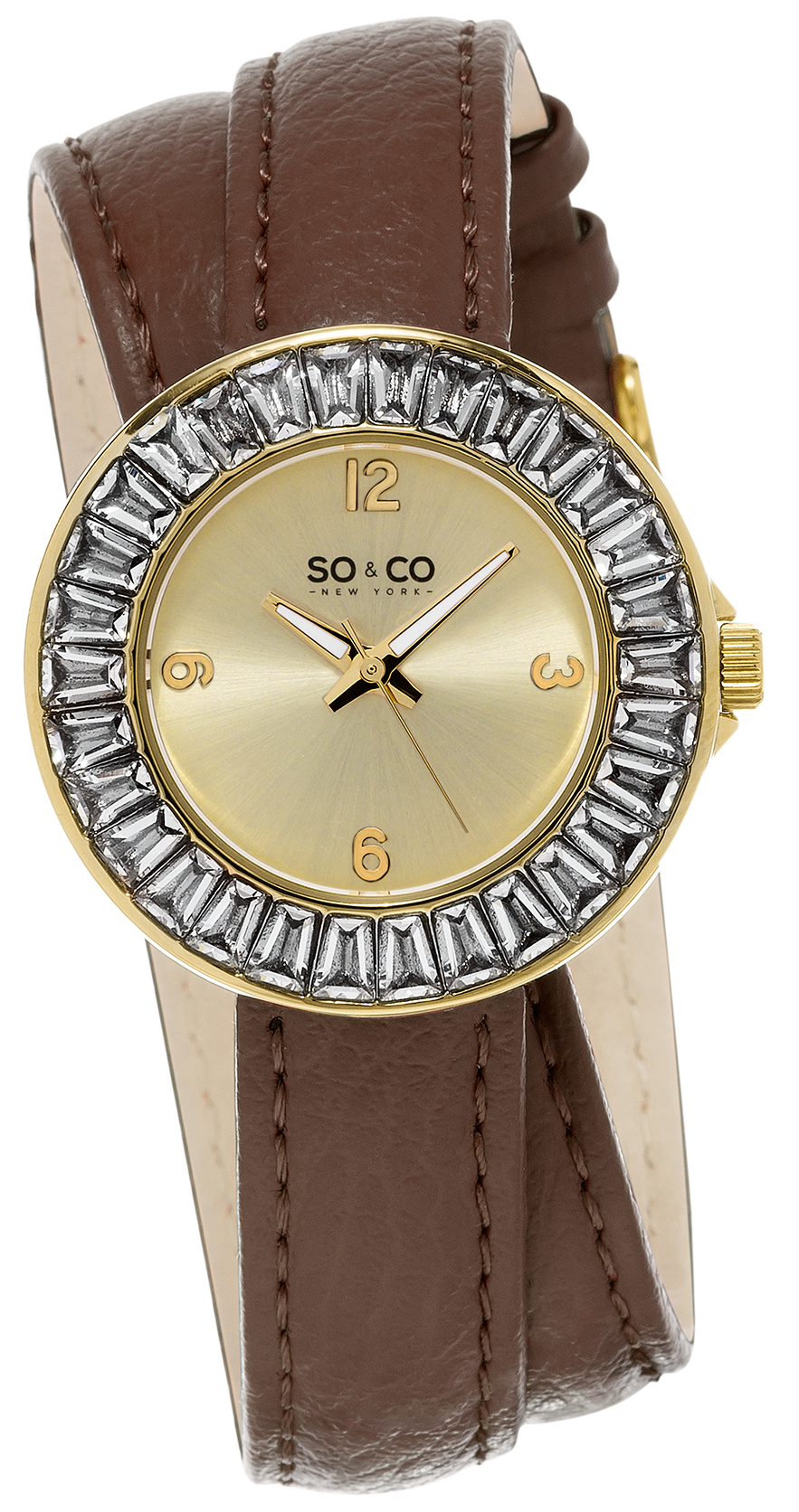 So & Co New York SoHo Dameur 5070.2 Champagne/Læder Ø34 mm