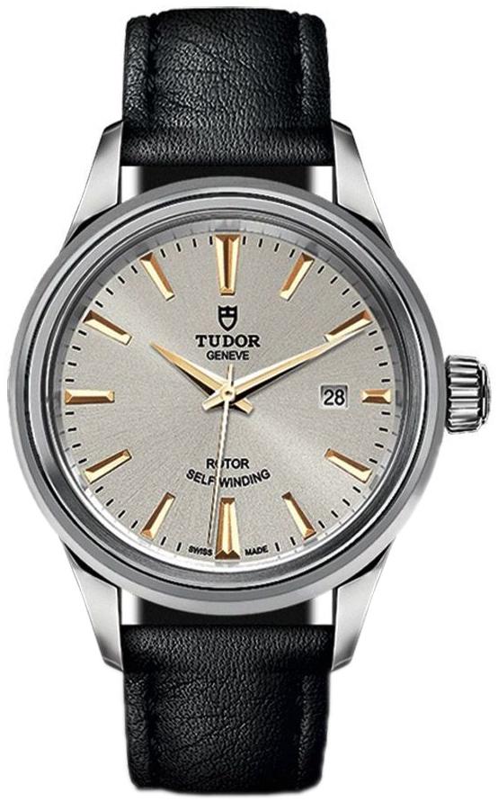 Tudor Style Dameur 12100-0018 Sølvfarvet/Læder Ø28 mm