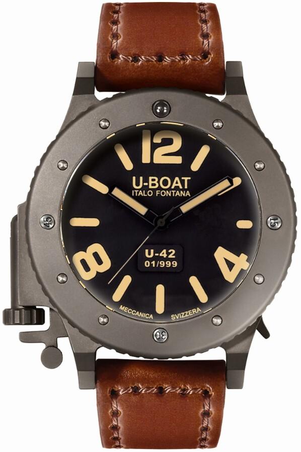 U-Boat U-42 Herreur 6157 Sort/Læder Ø53 mm