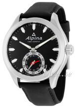 Alpina Horological Smartwatch Sort/Læder Ø44 mm