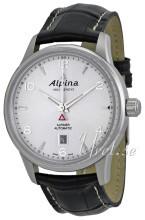 Alpina Alpiner Sølvfarvet/Læder Ø41.5 mm
