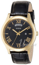 Guess Metropoliton Sort/Læder Ø44 mm