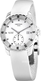 Certina DS First Lady Ceramic Small Second Hvid/Gummi Ø34.8 mm C014.235.17.011.00