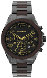 HEAD Heritage Sort/Stål Ø44 mm HE-001-05